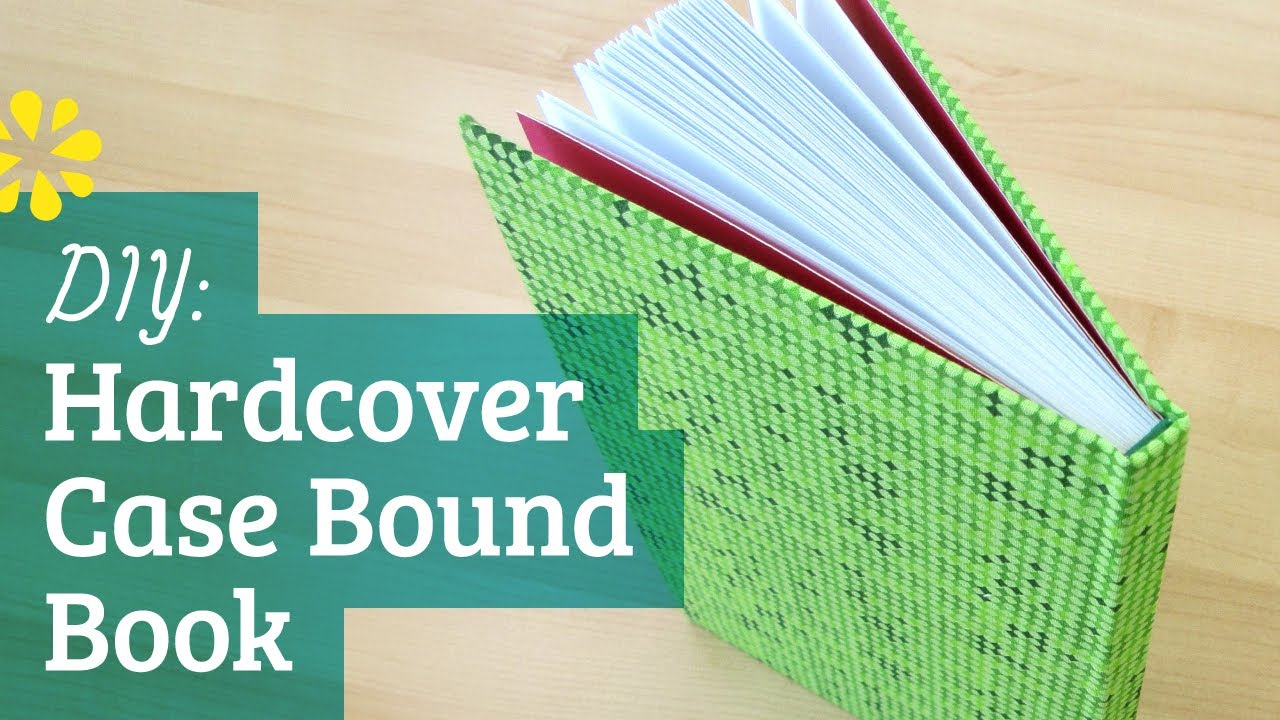 Soft Cover Book Binding Tutorial : How to make a hardcover book case binding youtube