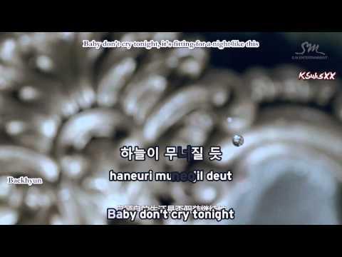 EXO-K - Baby Don't Cry [Karaoke Subs + Instrumental + Eng]