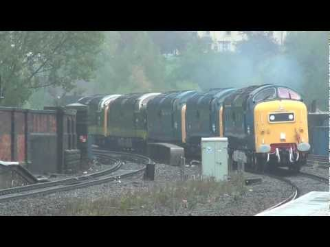 Five Deltic Convoy Passes Stalybridge 11th October 2011