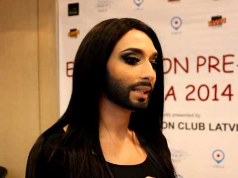 Eurovision preParty Riga: Conchita Wurst (Austria)interview