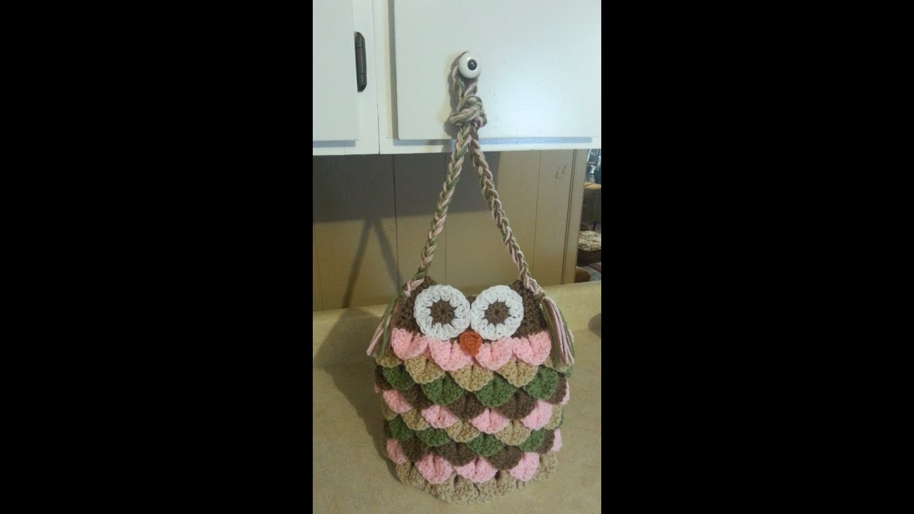 Crochet Bag Tutorial Youtube : ... Crochet Owl Bag Purse #TUTORIAL Adorable affordable handbags - YouTube