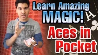 Free Magic Tricks: Learn Amazing Magic! Aces In Pocket