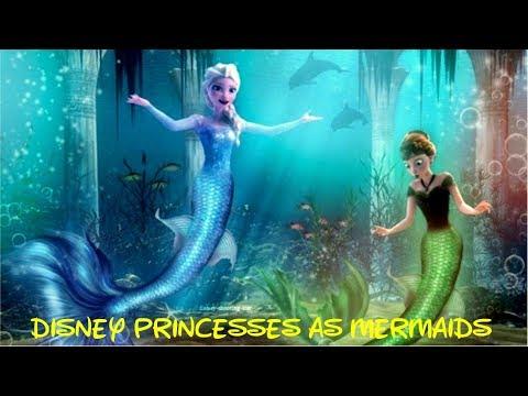 ♛ Frozen games ♛ Các nàng công chúa Disney hóa thành tiên cá như thế nào?