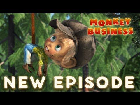 Máša a medvěd - 74 - Opičí práce
