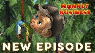 Máša a medveď - 74 - Opičia práca