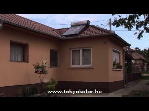 TokyoSolar napkollektor rendszer tapasztalatok  Rémay Lajosné, Délegyháza