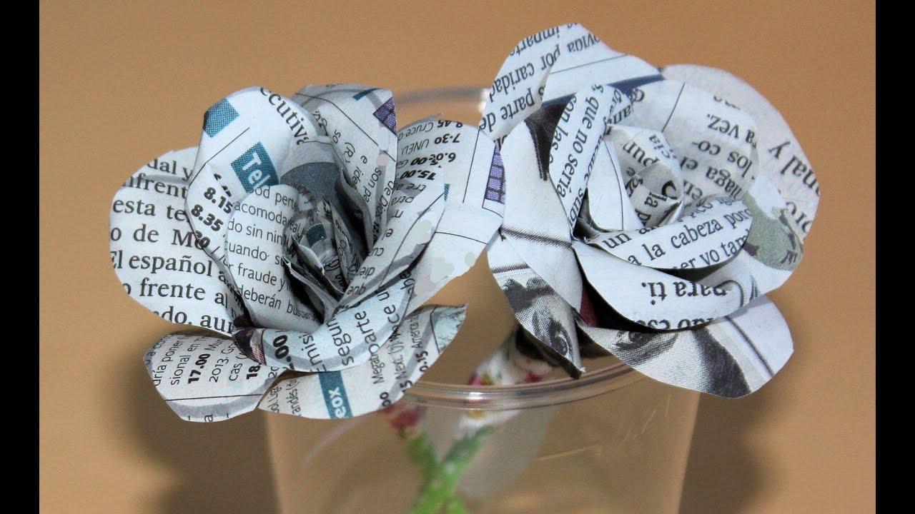 C mo hacer rosas de papel para regalar youtube - Como hacer rosas de papel ...