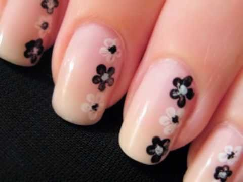 Easy Nail Art For Beginners Flower Nails Nail Art Video