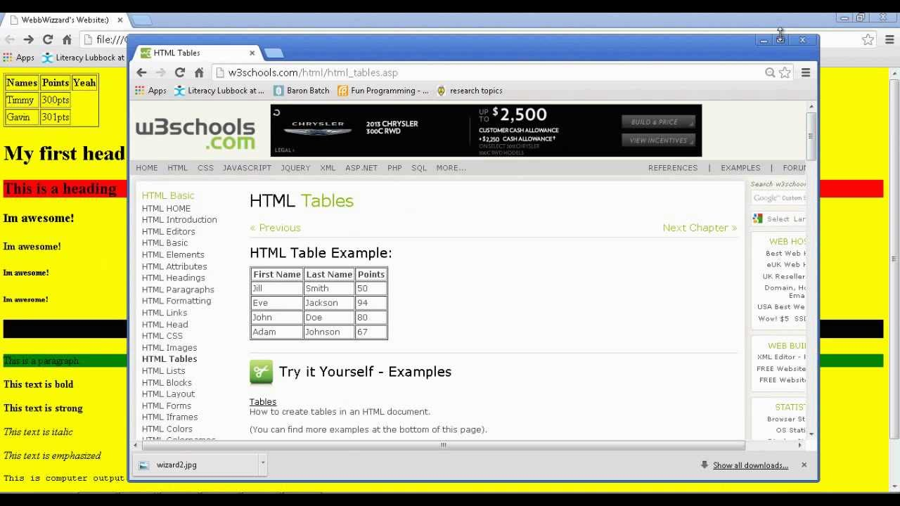 How To Make Your Own Simple Website Using Notepad Part
