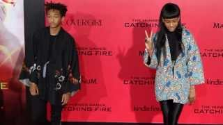 [Willow & Jaden Smith walk the 'Catching Fire Hunger Games' R...] Video
