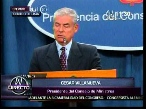 Declaraciones de César Villanueva