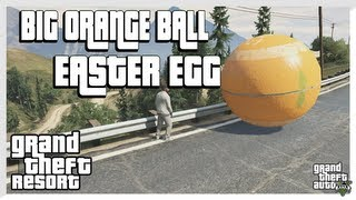 GTA 5 Big Orange Ball EASTER EGG (Grand Theft Auto 5