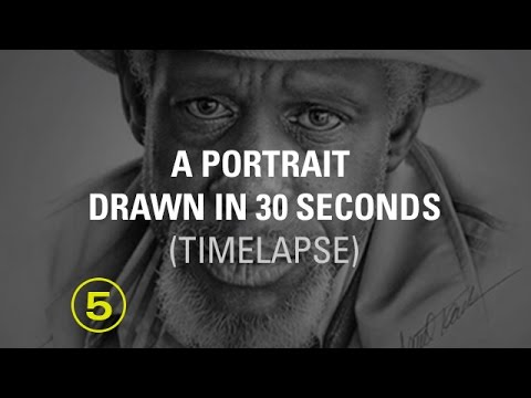 From paper to a portrait in just 30 seconds! (A time-lapse)