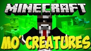 Minecraft: MO Creatures Lets Play | Riding Mama D and Fish Town | Ep. 73