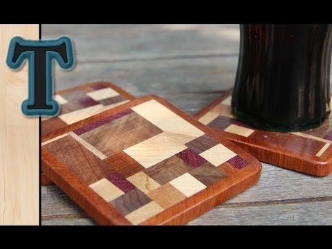 Woodworking Project | Scrap Wood Coasters/ Drink Mats - YouTube