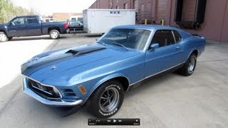 1970 Ford Mustang Mach I Fastback 351C Start Up, Exhaust, and In Depth Review videos