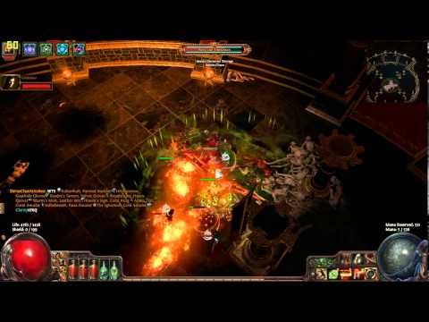 Path of Exile - Shrine Piety (-16max rez/chain) - pure melee (Hardcore)