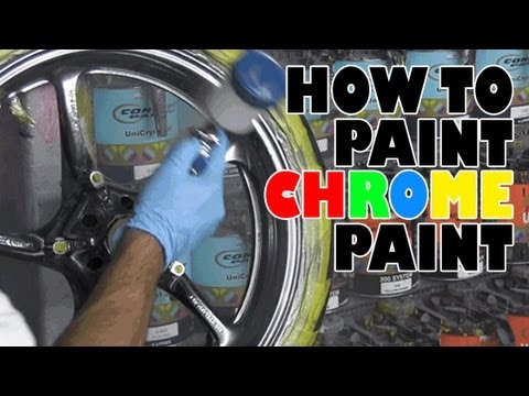 how to paint chrome paint youtube. Black Bedroom Furniture Sets. Home Design Ideas