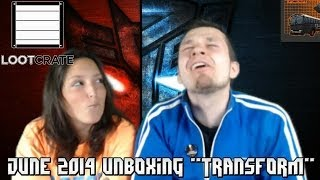 """Loot Crate:  June 2014 """"Transform"""" Unboxing - Transformers, Warheads, MLG, + MORE!"""