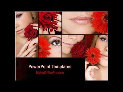 Beauty salon powerpoint template backgrounds for A b beauty salon