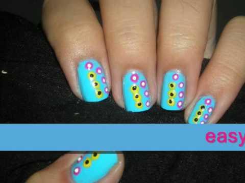 nail design tutorial baby blue nails  youtube