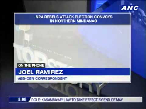 NPA rebels attack poll convoys in Mindanao617