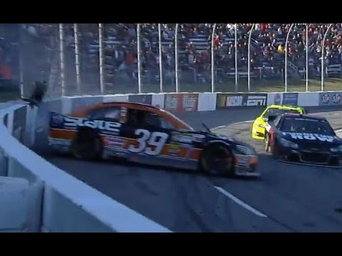Ryan Newman Crash @ 2013 Goody's Headache Relief Shot 500
