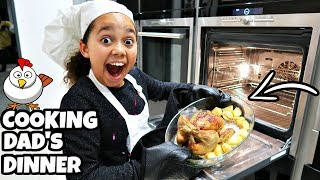 TRYING TO COOK CHICKEN DINNER FOR MY DAD!!