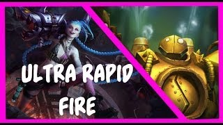 League Of Legends : Blitz + Jinx URF