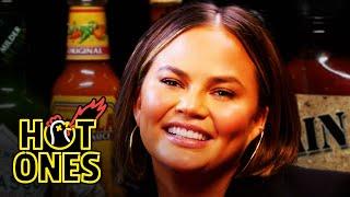 Chrissy Teigen Gets Drunk on Spicy Wings | Hot Ones