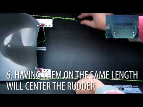 Nelo - NELO Tip: Setting up the rudder cables and T-bar