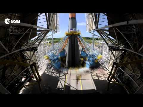 Time lapse film Soyuz flight VS06, with GAIA