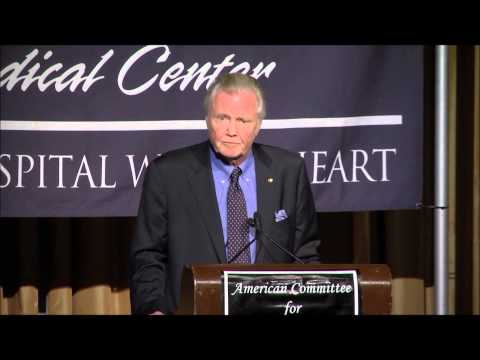 Jon Voight -- Shaare Zedek, The Jewish People, and Israel
