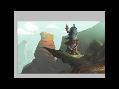 Environment speedpainting - digital painting - environment photoshop