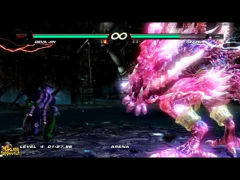 TEKKEN 6 [HOW TO] Kill Azazel Easy and Fast with Devil Jin [HD]