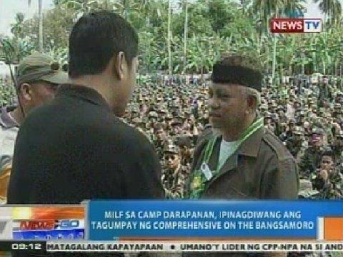 NTG: MILF sa Camp Darapanan, ipinagdiwang ang tagumpay ng Comprehensive Agreement on the Bangsamoro