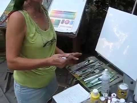 How to start painting on canvas with acrylic or oil youtube for How to start acrylic painting
