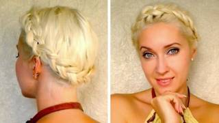 Dutch Crown Braid Tutorial For Medium Long Hair Milkmaid