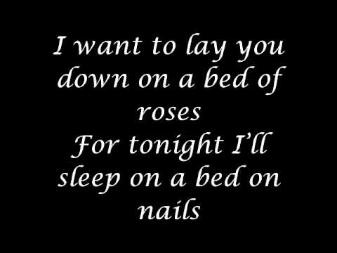 bon jovi bed of roses lyrics youtube