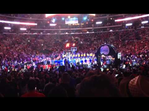 Clippers Vs Warriors NBA Anthem Introduction Donald Sterling 2014 Playoffs