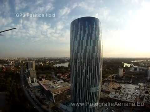 Sky Tower aerial video from Bucharest, Pipera- Floreasca