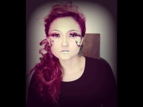 Maquillaje fantasia hada o ninfa de Bosque
