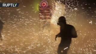 إصابة 499 شخصا جراء الألعاب النارية التي تخللت مهرجان سان خوان دي ديوس في المكسيك |