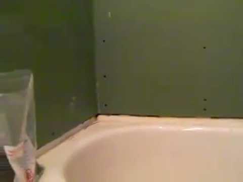 Proper Gyproc Installation Around Tub Mp4 Youtube