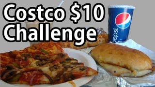 Costco $10 Food Court Challenge (vs Wreckless Eating)