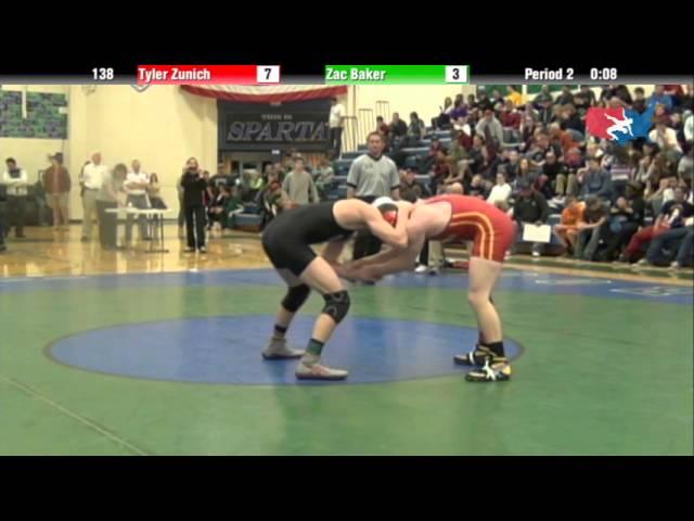 138 lbs Finals   Tyler Zunich Coronado vs Zac Baker Cheyenne Mountain