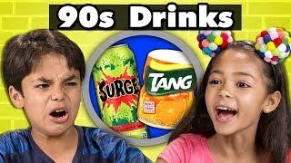 KIDS TRY 90s DRINKS!   Kids Vs. Food