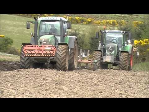 Fendt 720 & 820 Ploughing 2012 Donegal