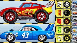 Monster Truck - Lightning McQueen, Dinoco Cars | Builds Car, Driving Cars |  Games for KIDS