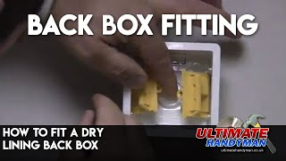 how to fit a back box in plasterboard
